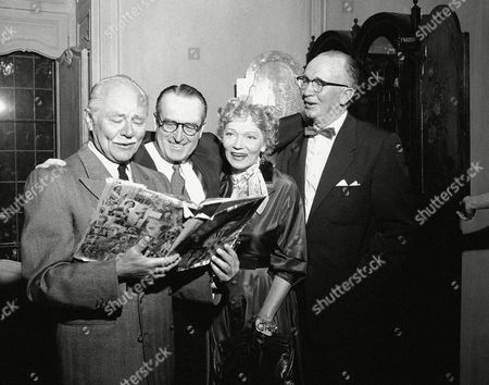 Harold Lloyd Stars of the silent screen, Charley Ruggles, Harold Lloyd, Gilda Gray and Walter Brennan, left to right, are at party given by Mary Pickford at her home in Beverly Hills, California on