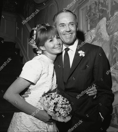 Henry Fonda Actor Henry Fonda is pictured with his wife, the former Shirlee Mae Adams at their wedding in New York