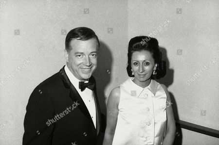 Hugh Downs Hugh Downs and wife are shown during reception for the new Broadway show Illya Darling