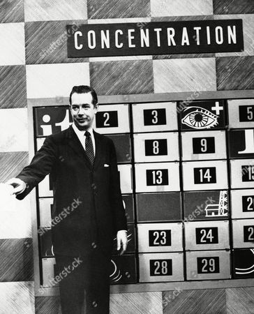 "Hugh Downs Hugh Downs, shown on the television set of his day-time game show, ""Concentration,"" (NBC) has taken over Arthur Godfrey's title as the most visible man in the country, . Downs spends 9 ½ hours a week in front of TV cameras, most of it as announcer and performer on the Jack Paar Show"