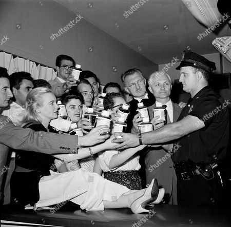 Editorial photo of Hungarian Refugees, New York, USA