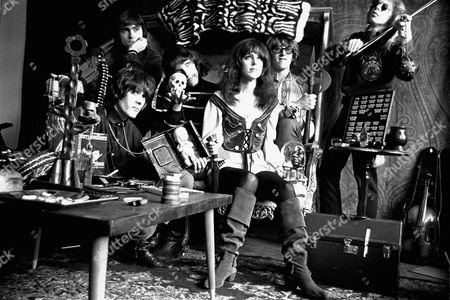 The Jefferson Airplane, pose for a portrait in San Francisco, . From left: Spencer Dryden, drummer; Marty Balin, rear, vocalist; Jorma Kaukonen, lead guitar; Grace Slick, vocalist; Paul Kantner, electric guitar; and Jack Casady, bass guitar