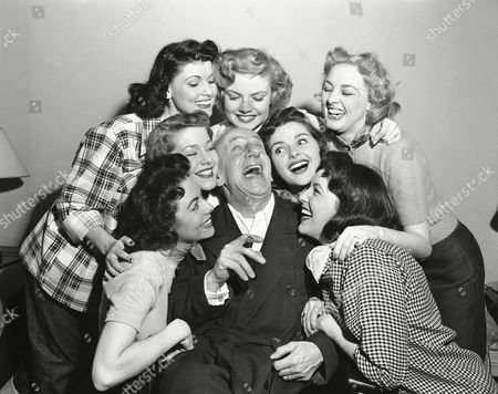Jimmy Durante Jimmy Durante tests one of his gags in typical Durante fashion on seven ladies in his dressing room at the Copacabana night club in New York, where he opened an 11-night engagement, . Women are unidentified