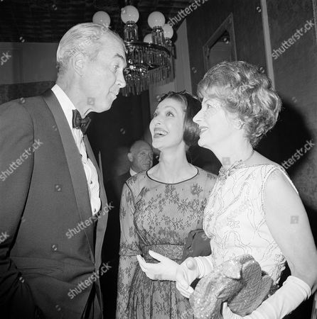 Jimmy Stewart, Irene Dunne, Loretta Young Long-time stars James Stewart, Loretta Young, center, and Irene Dunne at the Sam Goldwyn party in Beverly Hills, California on