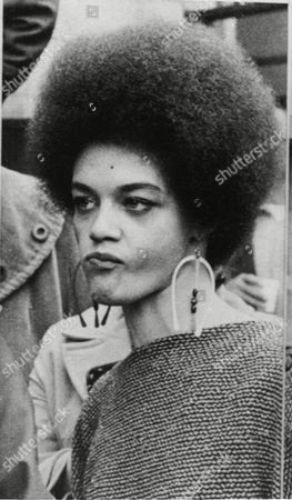 """Kathleen Cleaver Kathleen Cleaver, wife of the Black Panther leader and parolee Eldridge Cleaver, is shown during a news conference in San Francisco, . She said her husband should resist return to prison """"by any means necessary,"""" and that if officers came for him with guns, """"he should use a gun to defend himself."""" Cleaver was not at the news conference"""