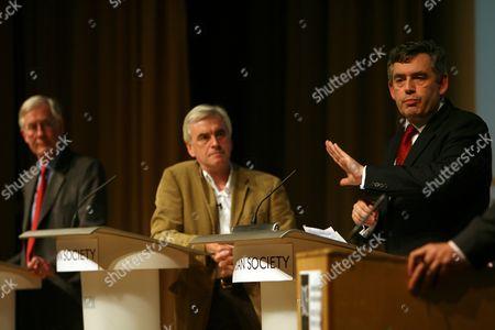 Michael Meacher, John McDonell and Gordon Brown