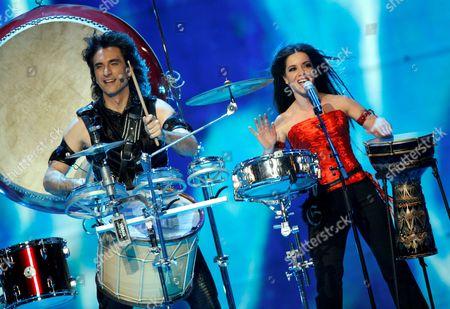 Bulgaria's Elitsa Todorova and Stoyan Yankoulov performing 'Water / Voda'