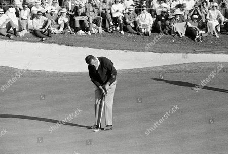 Tommy Jacobs Tommy Jacobs putts at the 18th green after holing out with a par 288 in final round of the Masters Golf Tournament at Augusta National Golf Club, . Jacobs, Jack Nicklaus and Gay Brewer finished the tourney in a three-way tie, the first in the Masters' 30-year-history and will meet in an 18-hole playoff on Monday