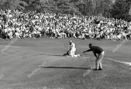 Tommy Jacobs Tommy Jacobs watches his shot on the 18th green after holing out with a par 288 in final round of the Masters Golf Tournament at Augusta National Golf Club, . Jacobs, Jack Nicklaus and Gay Brewer finished the tourney in a three-way tie, the first in the Masters' 30-year-history and will meet in an 18-hole playoff on Monday