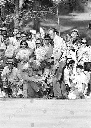 Tommy Jacobs Tommy Jacobs misses putt on 10th green as an ìexitî sign in background could be a symbol in his three-way Masters match with Jack Nicklaus and Gay Brewer at Augusta, Georgia, . Nicklaus went ahead on this hole