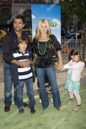 Mark Consuelos and Kelly Ripa with their children Michael Joseph and Lola Grace