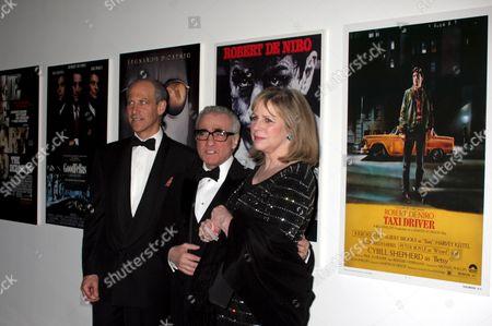 Glenn Lowry, Martin Scorsese and his wife Helen Morris