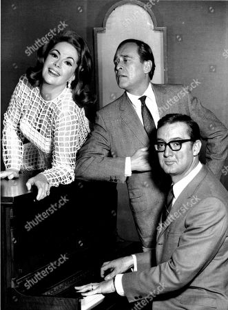 """Stock Picture of ALLEN MEADOWS NYE Steve Allen, right, set to launch his new summer series, """"The Steve Allen Comedy Hour,"""" on CBS-TV, rehearses a bit with his wife, Jayne Meadows, left, and Louis Nye for the first show in New York. The actress and TV personality, Meadows, who often teamed with her husband Allen, has died at age 95. Meadows' son, Bill Allen, said she died, in her home in the Encino area of Los Angeles"""