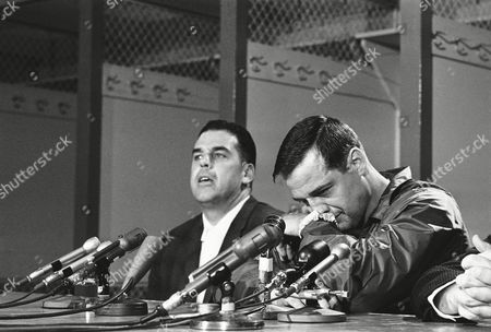 Sam Huff, Otto Graham Sam Huff, veteran linebacker, is downcast during a Washington news conference, in which he announced he would play his last pro football game on December 17. Otto Graham, coach of the Washington Redskins, is at left. Huff has been with the Redskins for four years after eight with the New York Giants