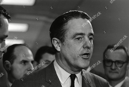 Robert Sargent Shriver, Jr Sargent Shriver, head of the poverty program, talks with newsmen after appearing before the House Education and Labor Committee on in Washington