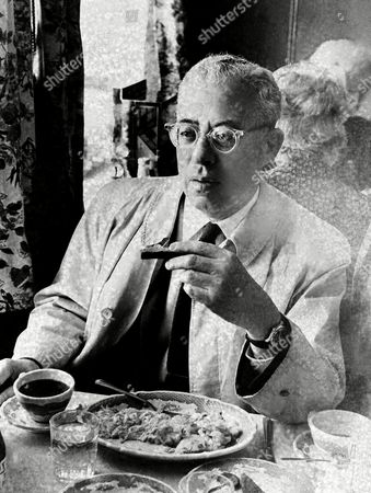 Saul David Alinsky, who headed up the formation of FIGHT; Freedom, Integration, God, Honor, Today, which is involved in a controversy with Eastman Kodak Company over a program for training of African Americans, has breakfast in Flemington, N.J., prior to the annual Kodak stockholders meeting to be held in Hunterton High School