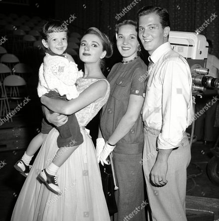 Pat Boone, Anna Maria Alberghetti, Shirley Boone, Cherry Boone Singer Pat Boone, and his wife, Shirley, stand with guest star Anna Maria Alberghetti, holding Boones' daughter, Cherry, 3, before his television show in New York, . Cherry made her TV debut on the show
