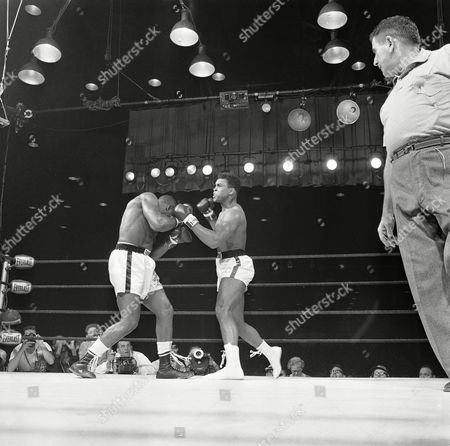 Editorial picture of Sonny Liston and Muhammad Ali Boxing, Miami Beach, USA