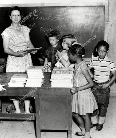 Editorial photo of U.S. INTEGRATION SCHOOLS, SPRINGER, USA