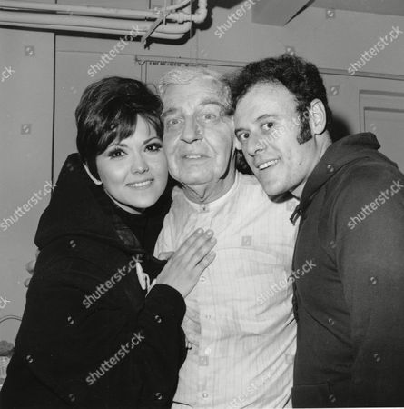 "Vaccare Berle Dishy Actor-comedian Milton Berle, center, poses with Brenda Vaccare and Bob Dishy backstage after performance of his new Broadway show, ""The Goodbye People,"" at the Barrymore theater in New York City on . Berle is making his comeback to Broadway after 25 years"