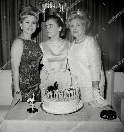 Gabor Hilton Zsa Zsa Gabor, left, and her mother Jolie, right, celebrate the 16th birthday of Zsa Zsa's daughter Francesca Hilton at New York's Stork Club