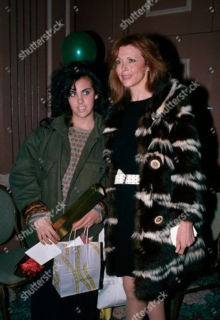 Editorial photo of Actress Tina Louise with Daughter Caprice Crane, Los Angeles, USA