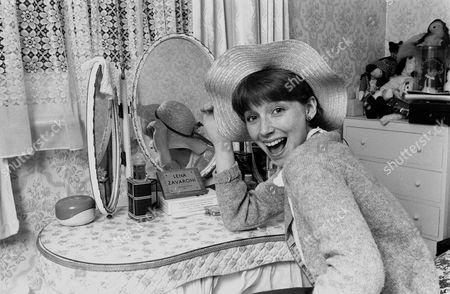 Stock Photo of Lena Zavaroni, Entertainer, at her home in Clapham, London, Britain - 1979