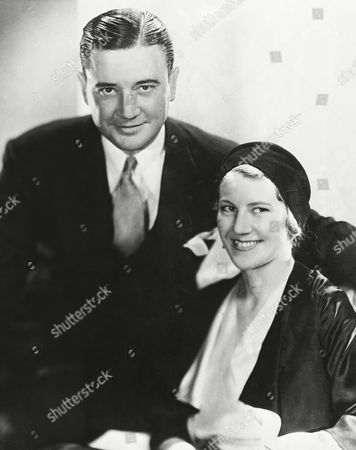 Richard Dix, motion picture actor, returned to Hollywood, with his bride, Winifred Coe of San Francisco, and announced he was ready for his new picture. They were married at Yuma, Arizona on October 20, and spent their honeymoon at Dix's Ranch near Ventura, California. They are shown after their arrival in Los Angeles