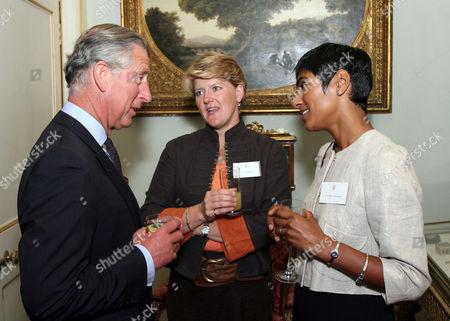 Prince Charles with Clare Balding and Reeta Chakrabarti