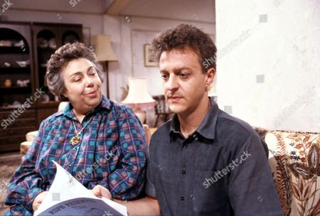 Stock Image of Patsy Byrne and Paul Bown in 'Watching' - 1997