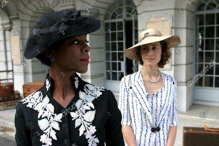Stock Photo of Poirot - 'The Mystery of the Blue Train' 2005 - Josette Simon, Georgina Rylance,