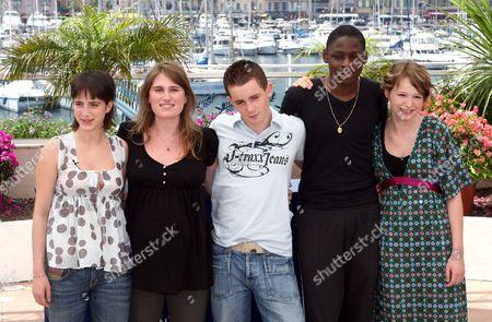 Lucie Desclozeaux, Lola Doillon, Nicolas Schweri, Gael Tavares and Christa Theret