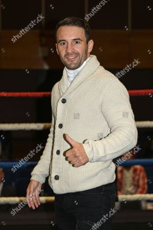 Lee Haskins poses for a photo during a Boxing Show at the Riviera International Centre on 22nd October 2016