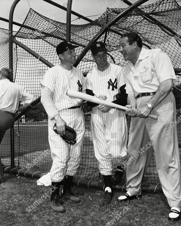 Editorial image of Max Baer with Joe Maggio and Tommy Henrich, New York, USA