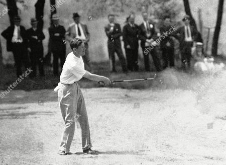 Byron Nelson Byron Nelson, in a sand trap off the 7th green on the Field Club course in Aspinwall, Penn., put Leo Diegel, Philadelphia veteran, out of the Professional Golfers' Association championship play, 2 and 1. Denny Shute, defending title holder from Boston, and other favorites came through