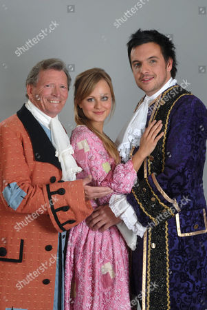 Johnny Briggs, Tina O'Brien and Mike Toolan who will star in 'Cinderella'