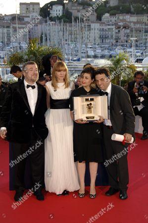 Co-directors Shira Geffen, Etgar Keret, director Pavel Lounguine