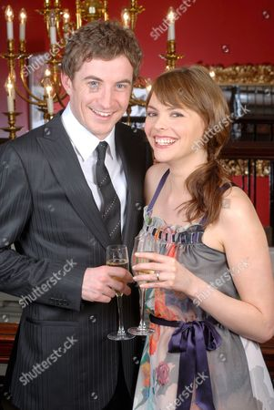 Stock Picture of Kate Ford and her fiance Jon Connerty