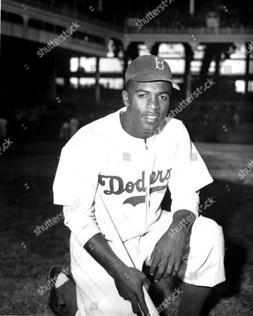 "Robinson Jackie Robinson of the Brooklyn Dodgers poses at Ebbets Field in the Brooklyn borough of New York. Robinson is the subject of a two-part documentary, ""Jackie Robinson"" directed by Ken Burns, Sarah Burns and David McMahon airing Monday and Tuesday at 9 p.m. on most PBS stations"