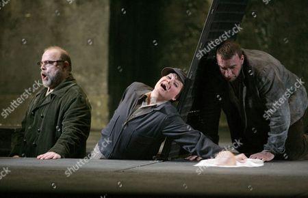 Eric Halfvarson (Rocco),  Karita Mattila (Leonore) and Endrik Wottrich (Florestan)