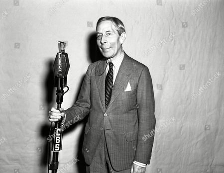 English actor, author and film-maker George Arliss making one of his rare microphone appearances on the CBS Lux Radio Theatre, on