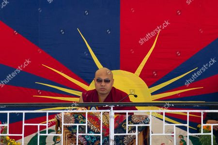 Tibetan spiritual leader the 17th Karmapa Ogyen Trinley Dorje presides over founding anniversary celebrations at the Tibetan Children's Village School in Dharmsala, India, . The school, which started as an orphanage in 1960, houses and educates over a thousand refugee Tibetan children