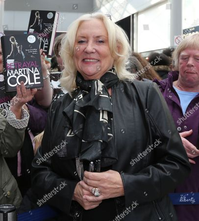 Martina Cole signs copies of her new book 'Betrayal' at the Liberty Centre
