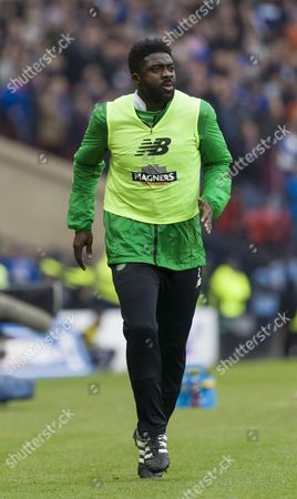 Kolo Toure of Celtic warms up during the Betfred Cup semi-final between Rangers & Celtic at Hampden Park, Glasgow on 23rd October