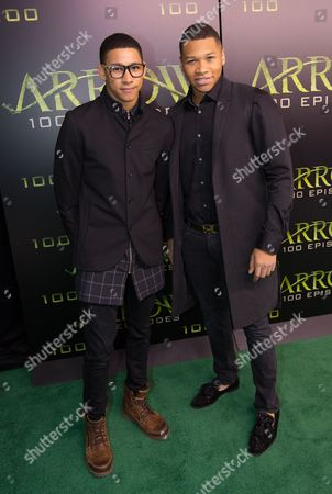 Stock Picture of Keiynan Lonsdale and Franz Drameh