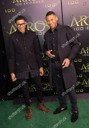 Stock Photo of Keiynan Lonsdale and Franz Drameh