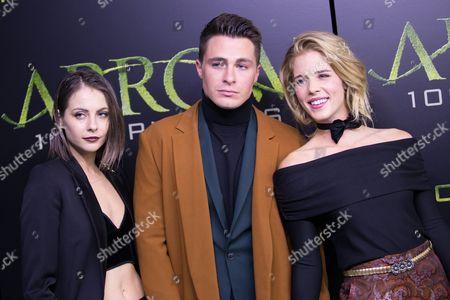 Willa Holland, Colton Haynes and Emily Bett Rickards