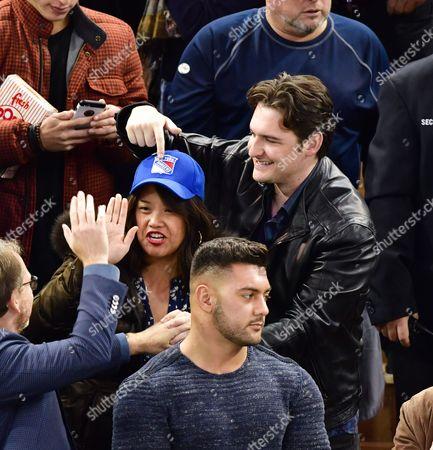 Editorial image of Celebrities at Arizona Coyotes v New York Rangers, NHL ice hockey match, Madison Square Garden, New York, USA - 23 Oct 2016