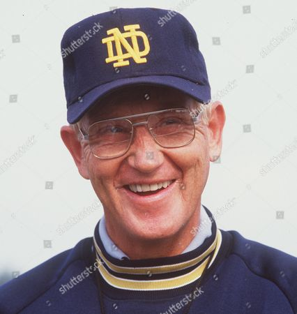 Showing Notre Dame college football coach Lou Holtz. The one constant in college football over the last 80 years has been the AP poll. It has helped link the past with the present and provided perspective