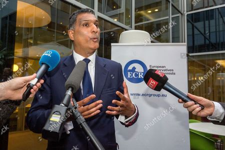 Leader of the European Conservatives and Reformists Syed Kamall speaks in Brussels on . Voters in the United Kingdom voted in a referendum on Thursday to decide whether Britain remains part of the European Union or leaves the 28-nation bloc
